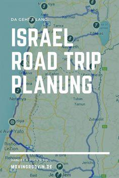 The plan: through Israel by car, a road trip through the whole country - Jerusalem, Dead Sea, Haifa, Jerusalem, Haifa Israel, Tel Aviv Israel, Road Trip, Sea Of Galilee, Der Plan, Eilat, Israel Travel, Geography