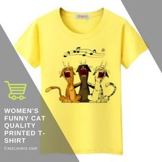 To stay as pretty as possible, you'll need this women's t-shirt funny cat quality printed T-shirt that is high on trend. This wonderful t-shirt will never let you down when it comes to being fashionable. Also, the captivating vivid color will add a hint of texture. Featuring a printed design, this bizarre apparel is super comfortable to wear.