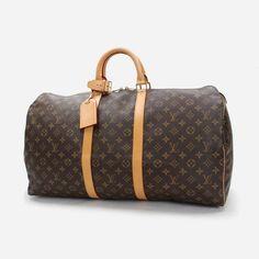 Louis Vuitton Keepall 55 Monogram Luggage Brown Canvas M41424