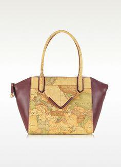 Alviero Martini 1A Classe Geo Grainy Large Print Eco Leather Satchel Bag   398.00 Actual transaction amount 0860994dc9ca