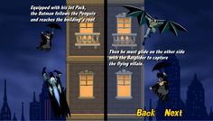 Batman the umbrella attack is a action game only on edygames.com.You have the duty to help batman to catch the penguin while he's flying his way up on buildings! Equipped with his Jet Pack batman must catch him and reaches the building's roof. After this he must glide on the other side after the fling villain. Good luck and enjoy it only on edygames.com. Action Game, The Other Side, Best Games, Online Games, Penguins, Jet, Buildings, Have Fun, Batman