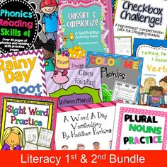 Literacy 1st and 2nd Bundle - don't miss out!