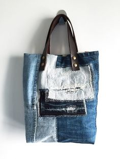 กระเป๋าผ้ายีนส์ Recycle Denim Tote Bag large image 0 by TuuStudioShop