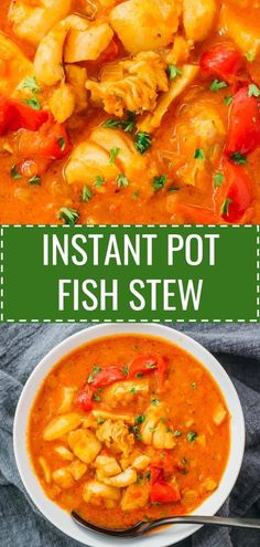 A fabulous Brazilian fish stew, also called moqueca, made in the Instant Pot pre. A fabulous Brazilian fish stew, also called moqueca, made in the Instant Pot pressure cooker. This seafood stew is made with coconut milk and tomatoes. Fish Recipes, Seafood Recipes, Soup Recipes, Cooking Recipes, Healthy Recipes, Cooking Tips, Keto Recipes, Cooking Games, Cooking Corn