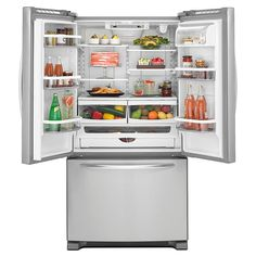 KitchenAid - KBFS20ECMS - 20.0 cu. ft. Counter-Depth French Door Refrigerator - Stainless Steel   Sears Outlet