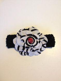 Infant Toddler Girls Ladybug Flower Crochet Headband Headpiece Hairbow Hair Accessories on Etsy, $7.00