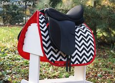 chevron Saddle Pad by PaddedPonies