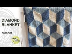 http://www.lanasyovillos.com How to make a crochet diamond blanket step by step in English http://www.lanasyovillos.com
