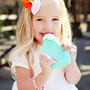 silicone squeeze bottle for yogurt,applesauce etc. Kids can feed themselves if you're busy!