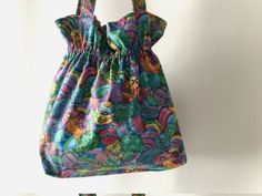 Easter Egg Tote Easter Tote Bag Easter Shopping Bag by 2Fun4Words
