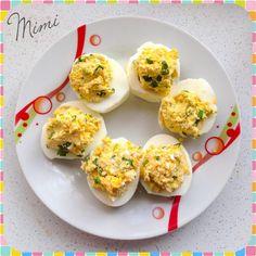 Medvehagymás töltött tojás a húsvéti menühöz Eggs, Breakfast, Food, Morning Coffee, Essen, Egg, Meals, Yemek, Egg As Food