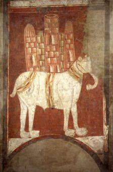 Elephant.  San Baudelio of Casillas de Berlanga. ChronologyXII Century