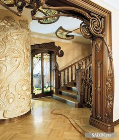 Art Nouveau, a decorative art style that grew between near 1890 and 1910 in all of Europe and the United States. Art Nouveau is populated with the use of long, winding, organic lines and very often used in Indonesian architecture,… Continue Reading → Architecture Art Nouveau, Beautiful Architecture, Beautiful Buildings, Architecture Details, Interior Architecture, Architecture Windows, Gaudi, Belle Epoque, Design Art Nouveau