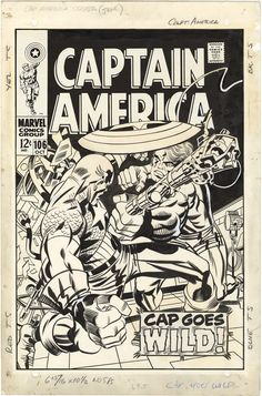 Kirby Captain America 60s Covers