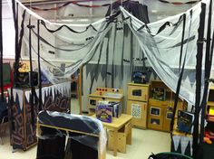 My Kindergarten Dramatic Play - Bat cave in October