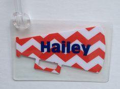 Chevron Bag Tag Cheer Camp Gifts Cheerleader Bag Tag Cheerleading Bag Tag Cheer Mom Gift on Etsy, $5.95