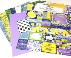 CKTG - Bee-utiful (BB) - 756178 Page Protectors, Glue Dots, American Crafts, Page Layout, Scrapbook Supplies, Pattern Paper, Card Stock, Bb, Love You