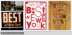 A Look at Submissions for Our 'Best of New York' Cover - Best of New York 2009 -- New York Magazine