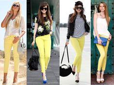 Calças amarelas