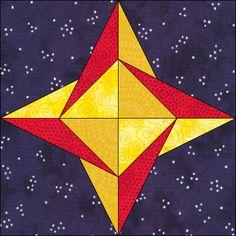 Star block Paper Piecing Patterns, Patchwork Patterns, Quilt Block Patterns, Star Patterns, Pattern Blocks, Star Quilt Blocks, Star Quilts, Southwest Quilts, Quilt Tutorials