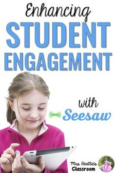 Enhancing Student Engagement With the Seesaw App by Mrs. Beattie's Classroom. This app is the perfect solution for paperless student portfolios and is an excellent way to use technology to make learning accessible to ALL students!