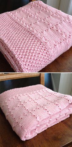 Kids Knitting Patterns, Free Baby Blanket Patterns, Afghan Crochet Patterns, Baby Patterns, Free Knitting, Baby Knitting, Knitted Baby Blankets, Baby Blanket Crochet, Friend Photography