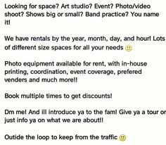 """We got the space you need! Great prices and services! @Jomarvisions ❤  Dm me for details & info ❤  #houston #studio #art #music #photography #rent #rental #event #space #fashion #show #exhibit #practice #paint #draw #artists #artist #community #support #group #events #love #family"" by @artcmlife. #이벤트 #show #parties #entertainment #catering #travelling #traveler #tourism #travelingram #igtravel #europe #traveller #travelblog #tourist #travelblogger #traveltheworld #roadtrip #instatraveling…"