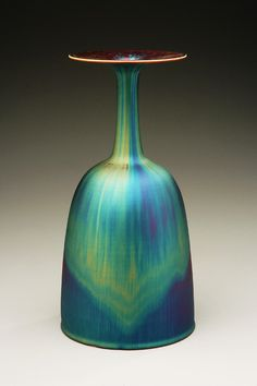 Miyamura: Vase with blue hare's fur glaze