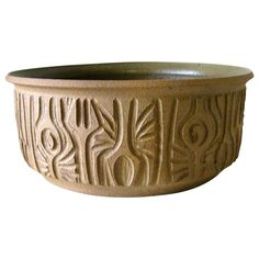 Robert Maxwell Hand-Carved Studio Pottery Bowl