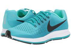 Nike Kids Zoom Pegasus 34 (Little Kid/Big Kid) Girls Shoes Aurora Green/Black/Turbo Green/Blustery