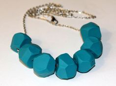 DIY Turquoise Clay Necklace