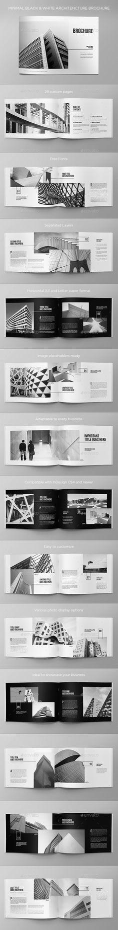 26 Ideas For Design Editorial Brochure Black White Travel Brochure Template, Bi Fold Brochure, Brochure Cover, Corporate Brochure, Business Brochure, Corporate Design, Brochure Design, Portfolio Covers, Portfolio Design
