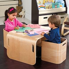 Kids Modern Furniture, Table and Chairs-Leaps and Bounds Kids $170