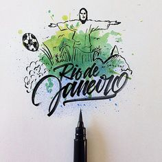 Cities around the world with a Brushpen by David Milan #lettering #script #typography #type #brush #handlettering #visual #design