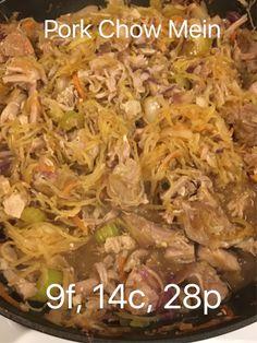 MacroEd Pork Chow Mein; clean, easy, macro-friendly, high protein