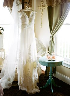 Gorgeous Wedding Gown Shot before the Bride gets ready!