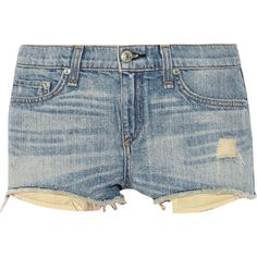 Rag & bone Mila distressed cut-off denim shorts (1.842.310 IDR) ❤ liked on Polyvore featuring shorts, bottoms, pants, short, cut-off jean shorts, cut off shorts, destroyed jean shorts, cut off denim shorts and denim short shorts