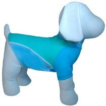 PlayaPup UV Protective Rash Guard Shirt in Mint, 3X-Large, Color:Blue