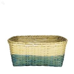 Storage Basket Cane Towel Holder Small