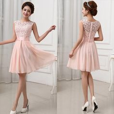 Sexy-Womens-Lace-Crochet-Flower-Cocktail-Party-Evening-Chiffon-Mini-Tunic-Dress