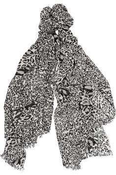 DIANE VON FURSTENBERG  Kenley animal-print cashmere scarf