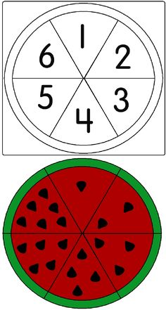 A Child's Place: Watermelon Game Creative Activities For Kids, Preschool Learning Activities, Preschool Lessons, Toddler Activities, Preschool Activities, Kids Educational Crafts, Numbers Preschool, Kindergarten Math Worksheets, Abc Centers