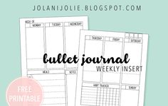 Free Printable: Weekly To Do Planner Insert - Jolani Jolie Bullet Journal Free Printables, Daily Planner Printable, To Do Planner, Planner Ideas, Planner Journal, Free Planner, Planners, Tracker Free, Free Stuff By Mail