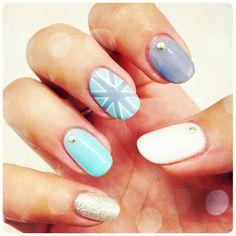#calgel #unionjack #nails