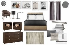 Bedroom revamps concept board. Client's want a minimalistic room and wanted a bit of a flair.