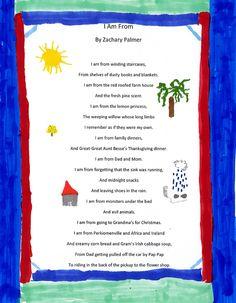 I am from poem - Zachary Palmer