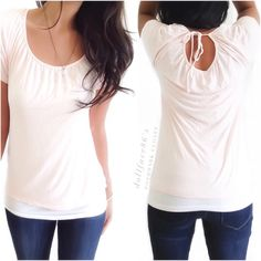 """Light Pink Key Hole Back Tee This is a nice light pink tee, with a light, stretchy & breathable fabric. This tee is a nice basic with elevated style {actual color of item may vary slightly from photos}  •shoulders:18"""" •chest:17"""" •waist:18.5""""w •length:21"""" •sleeve:8.5""""  Material:no tag feels like cotton  ️machine wash  Fit:true Condition:no rips no stains  ❌no holds ❌no trades ♥️️bundles of 3/more items get 20% off Tops Tees - Short Sleeve"""