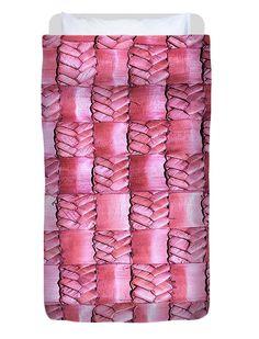 Weaving Duvet Cover featuring the photograph Weaving Flax - Watermelon by Wairua o te Moana Watermelon Art, Thing 1, Kiwiana, Sea Art, Colorful Backgrounds, Fine Art America, Hand Sewing, Moana, Duvet Covers