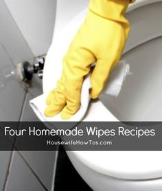 Four homemade wipes recipes: baby wipes, makeup removing wipes, cleaning wipes and disinfecting wipes. Wait, did I say four? I meant five -- I've included my recipe for window-cleaning wipes, too!