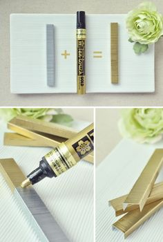 DIY Friday: Gold Staples.